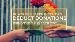 Deduct donations taxes bookkeeping